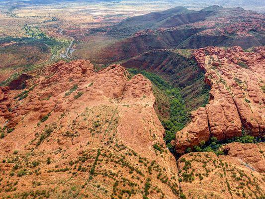 Kings Canyon aus der Luft