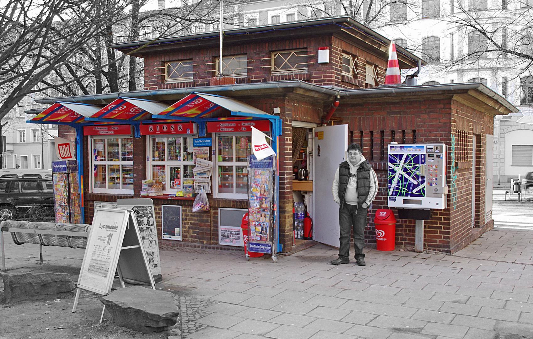 Kiosk mit Trafohaus