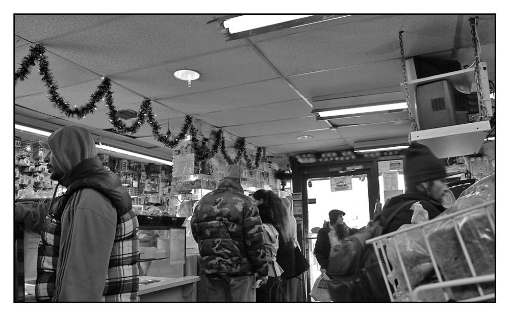 Kioskszene in Harlem