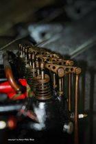 Kipphebel auf einem Argus Flugzeugmotor