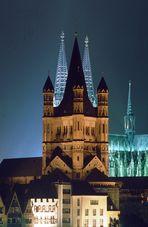 Kirche Gross St.Martin vor dem Kölner Dom