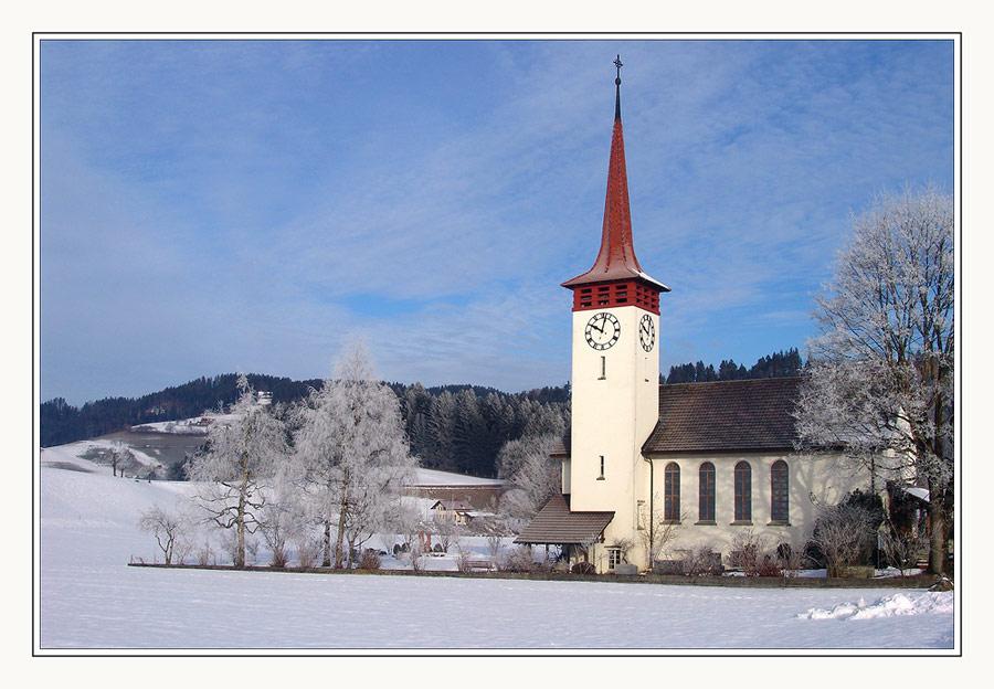 Kirche im Emmental, ein Postkartenmotiv
