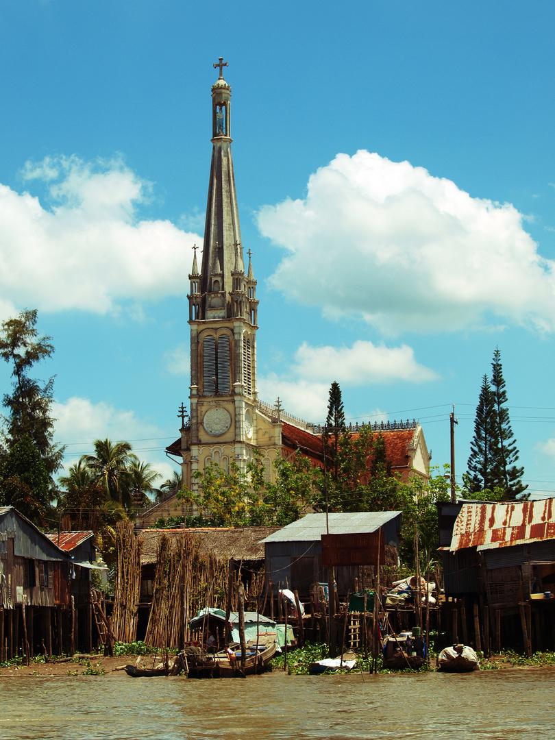 Kirche im Mekong Delta