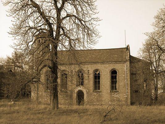 Kirche im Zerfall in Halle/Saale