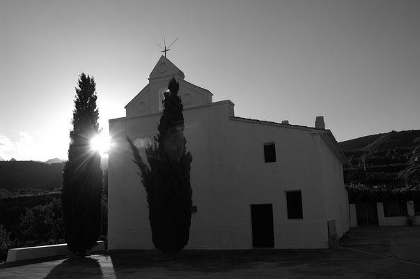 Kirche in der Nähe von Calpe....