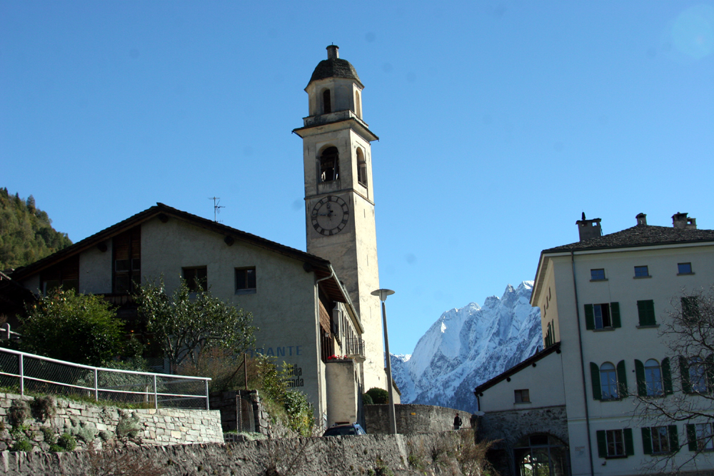 Kirche in Soglio GR