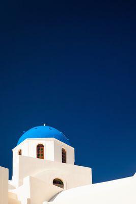 Kirche mit blauer Kuppel
