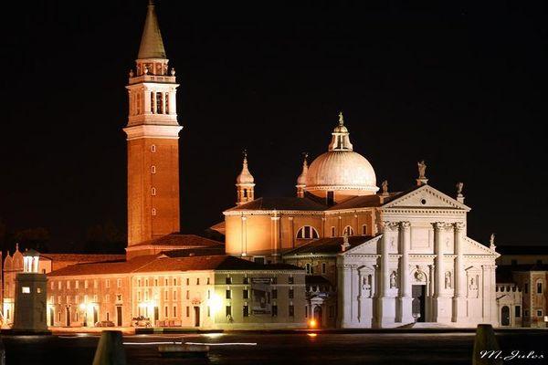 Kirche San Giorgio Maggiore bei Nacht