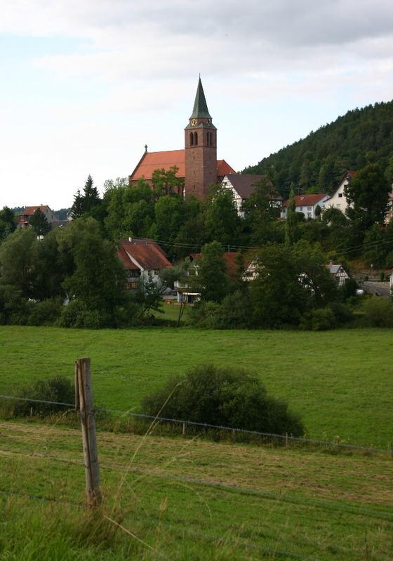 Kirche von Horgen am Rande des Schwarzwaldes