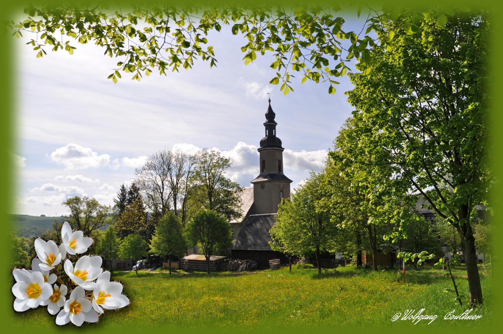 Kirche von Wildbach nördlich von Schneeberg