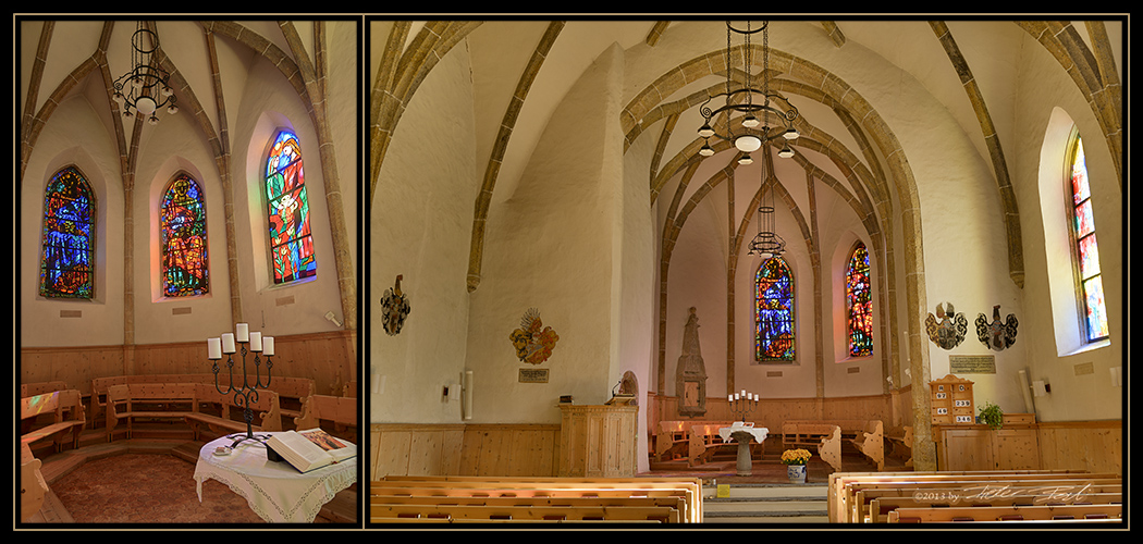 Kirche Zuoz, Oberengadin - Innenansicht
