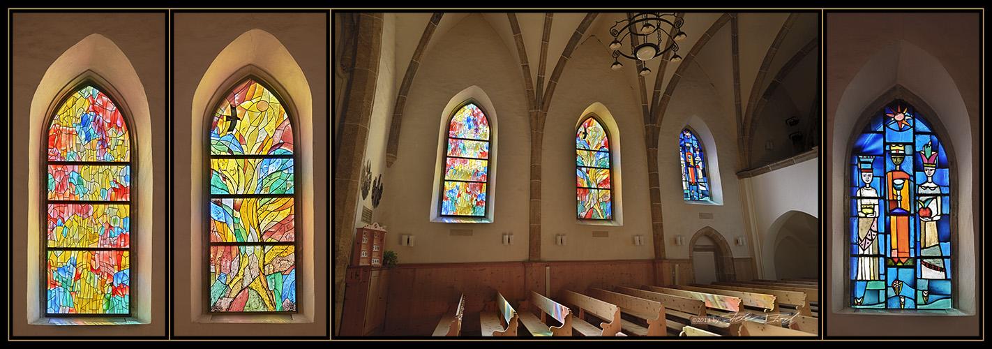 Kirche Zuoz, Oberengadin - Seitenfenster
