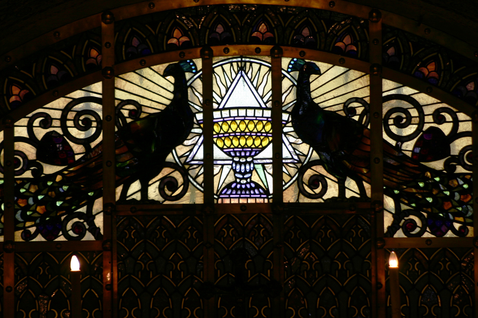 Kirchenfenster Berg Tabor