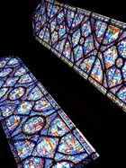 """Kirchenfenster der """"Cathédrale"""" von Chartres"""