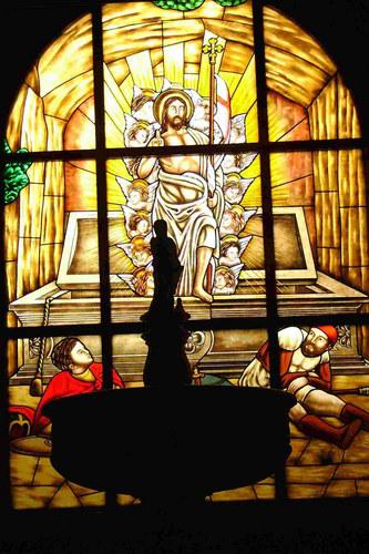 Kirchenfenster El Salvador - Santa Cruz, La Palma