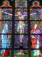 Kirchenfenster in der Katholischen Kirche Borkum... Deutschland, Niedersachsen