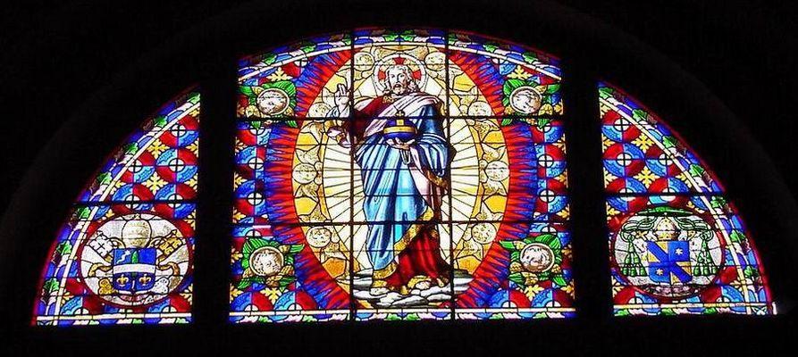 Kirchenfenster in Montalcino