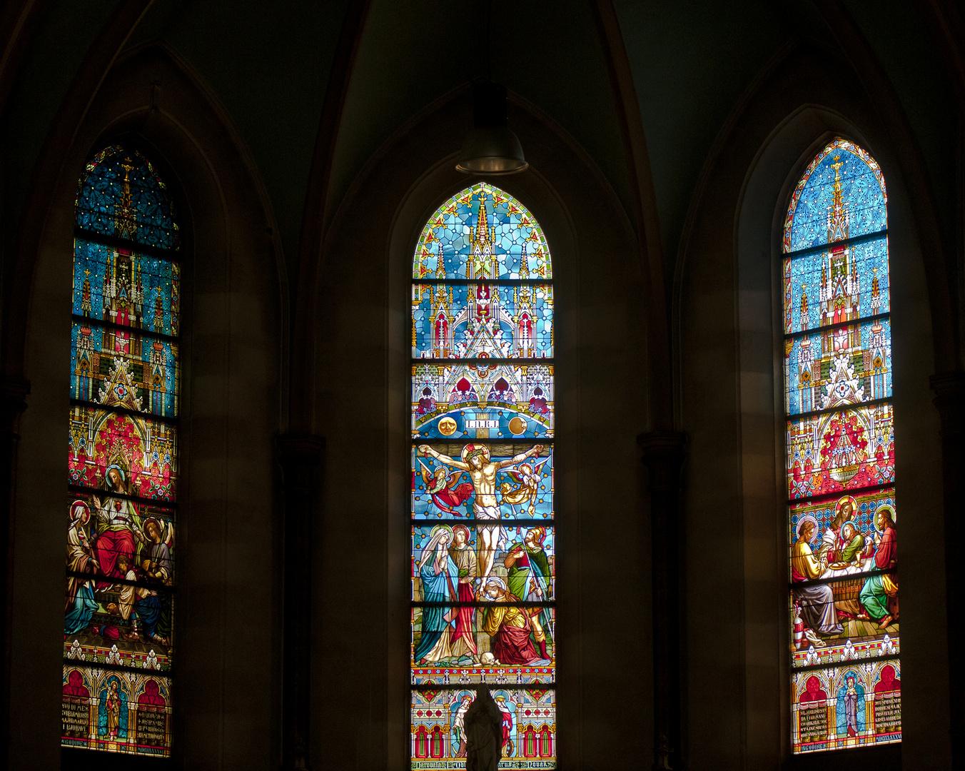Kirchenfenster in Sarajevo - Bosnien