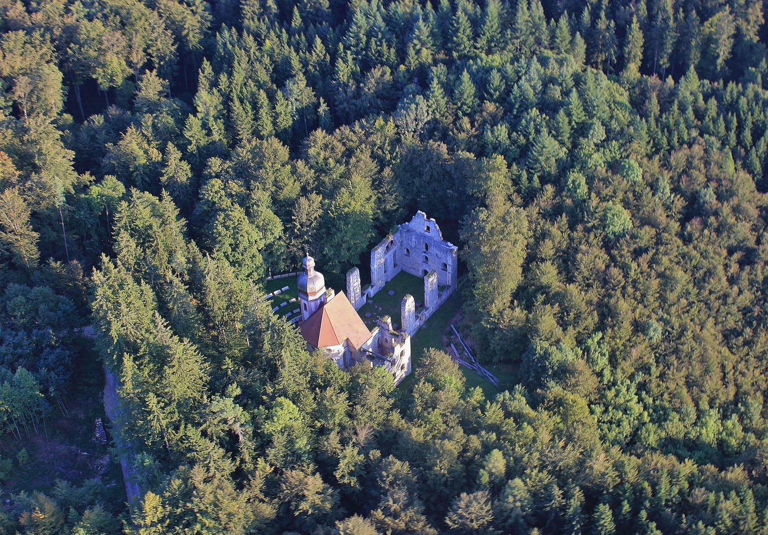 Kirchenruine Maria Hilf zwischen Fridingen u.Mühlheim a.D.