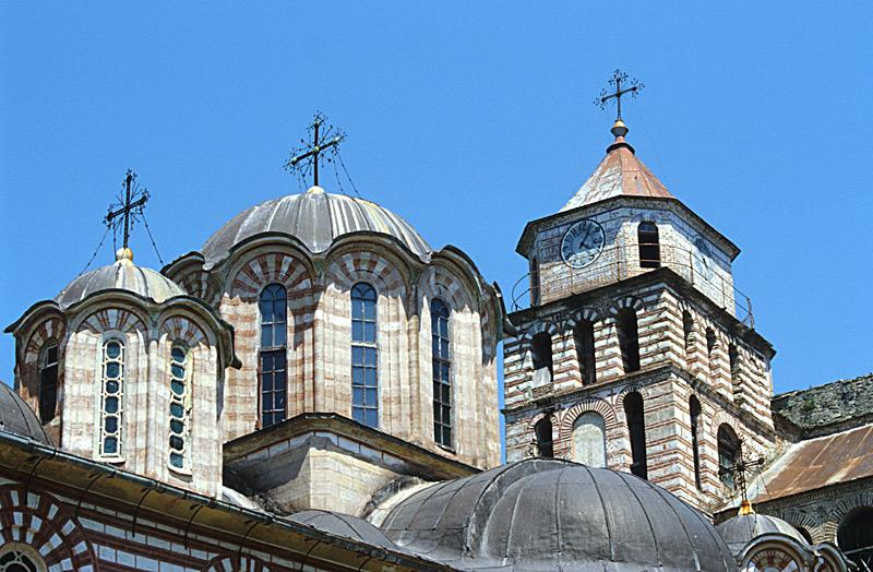 Kirchtürme im Kloster Zografou