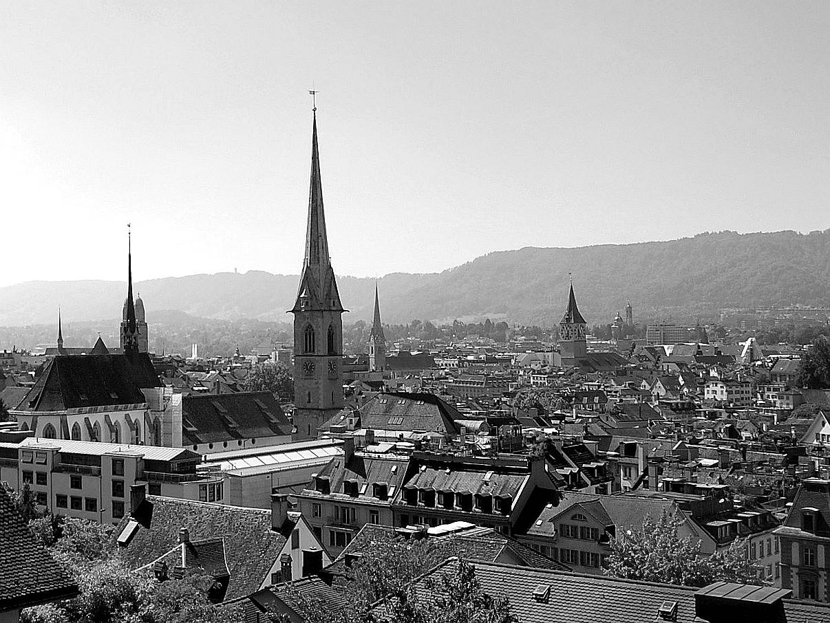 Kirchtürme über Zürich