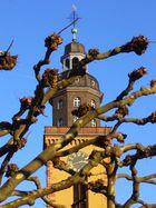 Kirchturm der Katharinenkirche in Frankfurt am Main