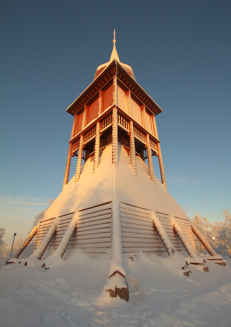 Kirchturm in Kiruna