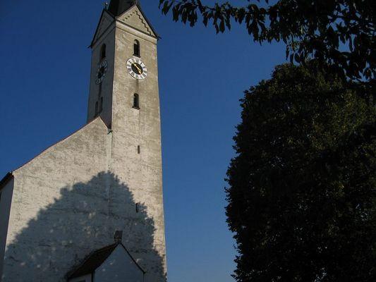 Kirchturm in Oberhummel