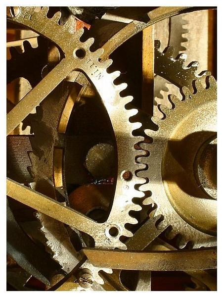 Kirchturm-Uhrwerk Detail