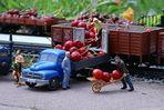 Kirschtransport mit der LGB