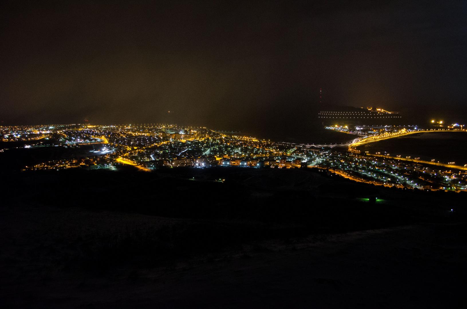 Kiruna bei Nacht