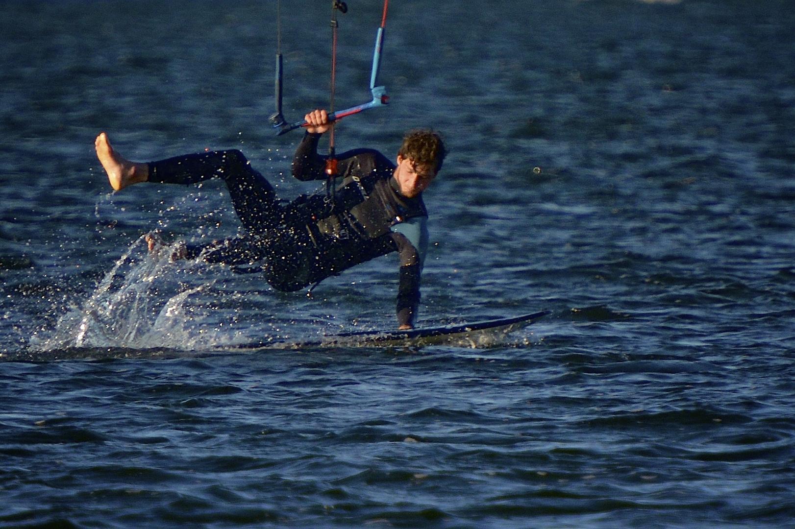 Kite-Sport vor der Küste