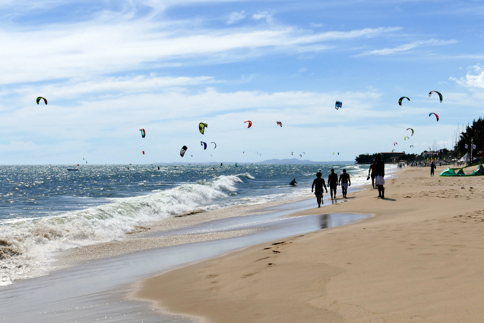 ...Kite surfen...