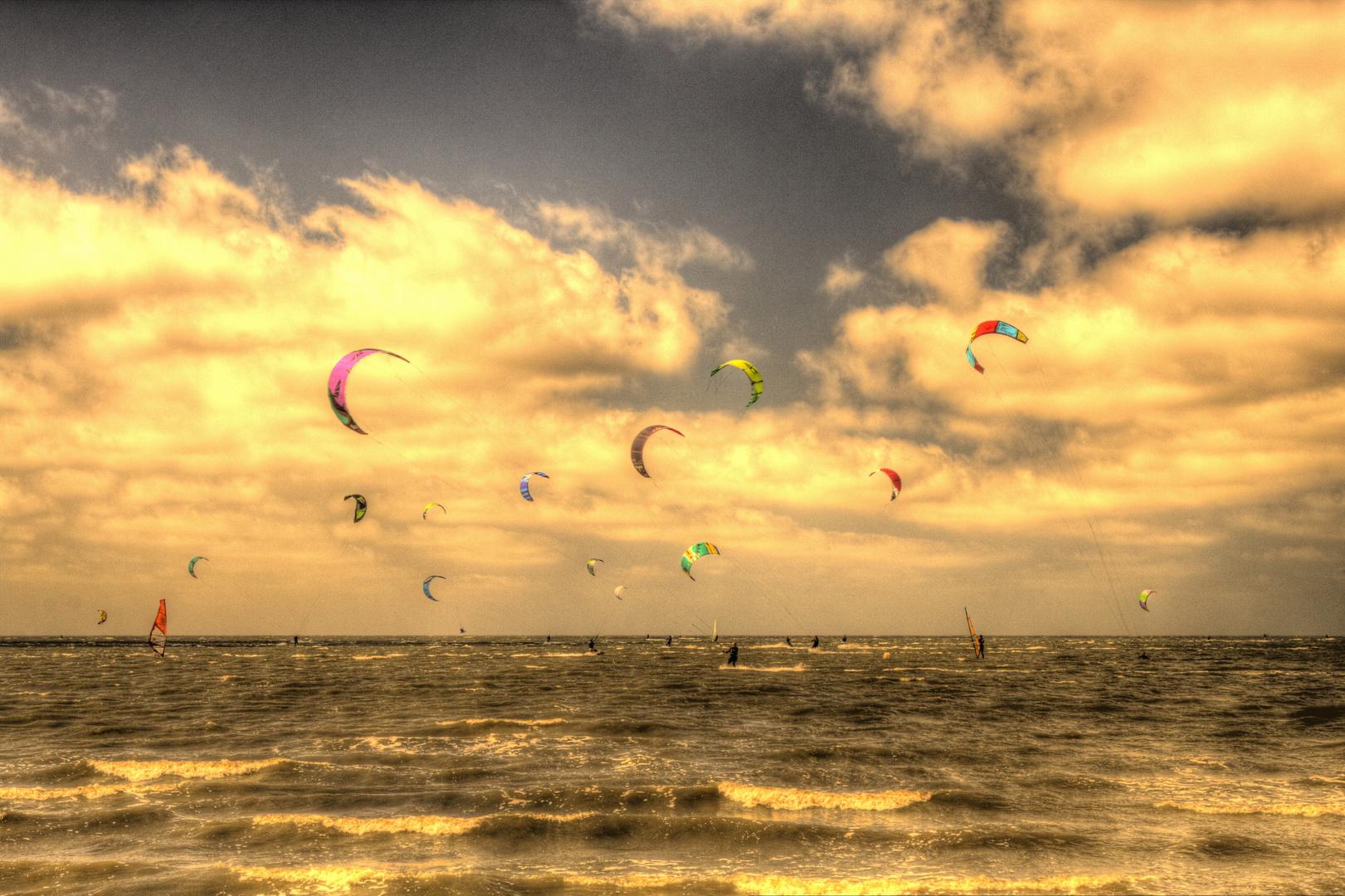 Kite-Surfen in Sahlenburg