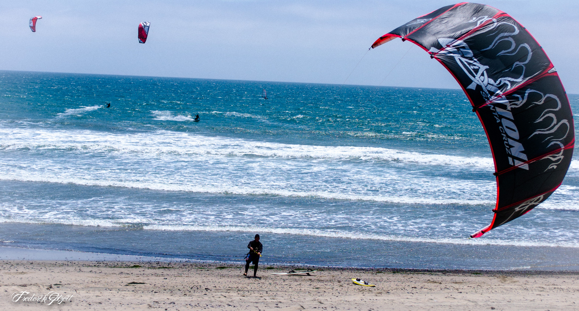 Kite-Surfer am Sunset Beach