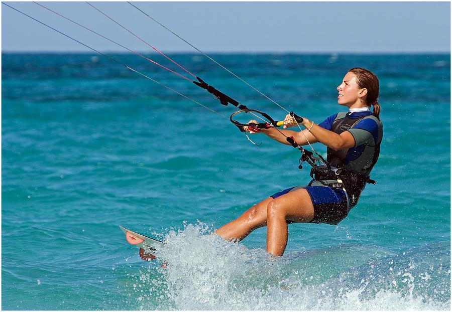 Kite Surfing Caribbean Sea
