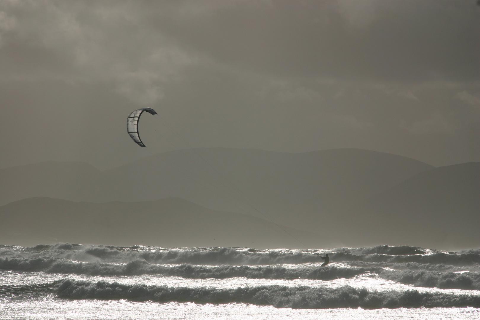 Kiter am Inch Beach