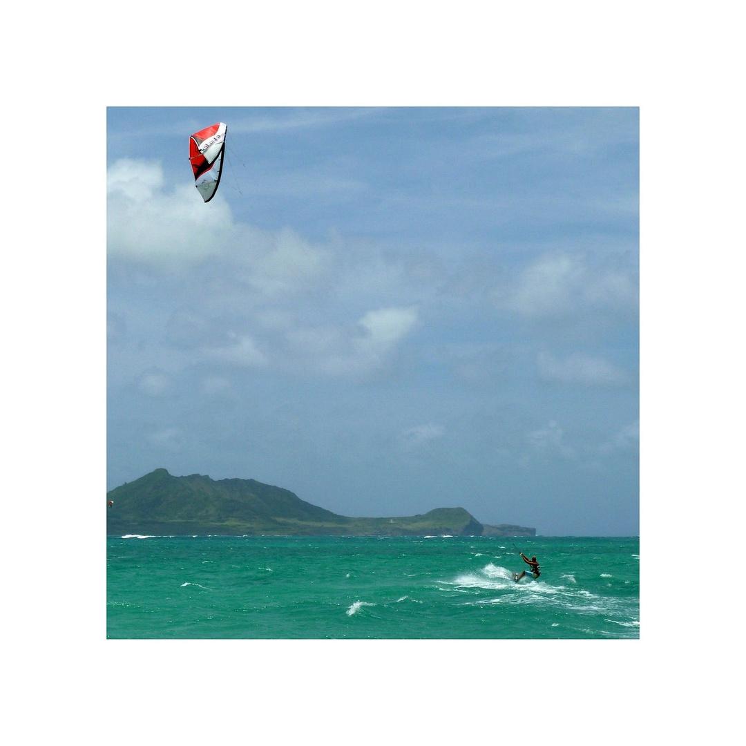 Kiter am Kailua Beach