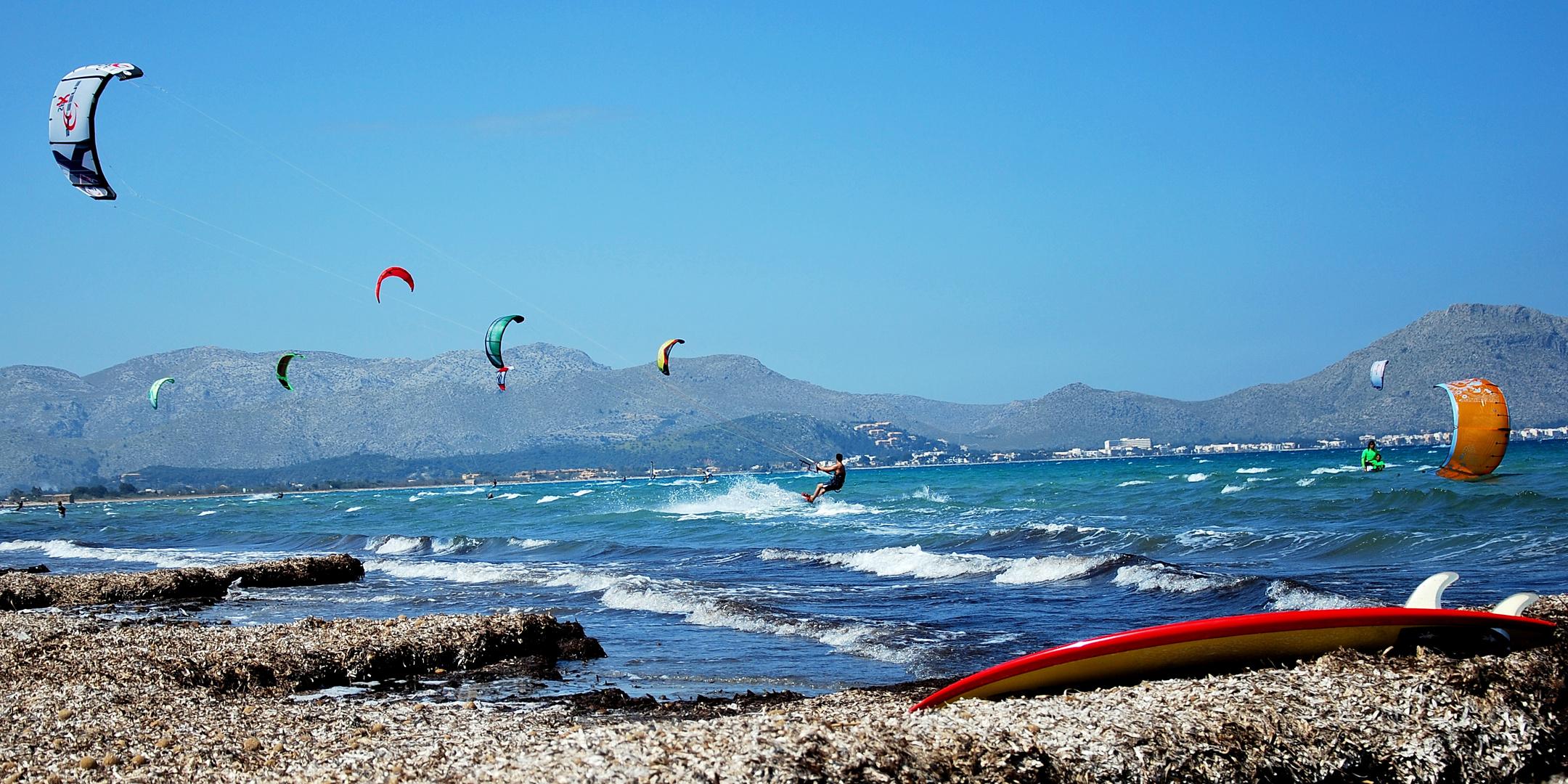 Kitesurfen in Alcudia/Mallorca