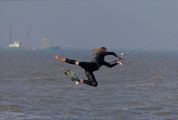 Kitesurfer Hooksiel