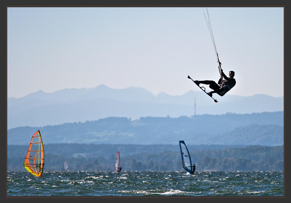 Kitesurfing am Ammersee