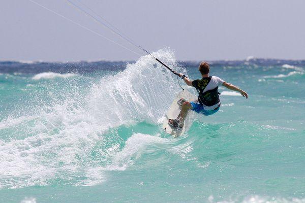 Kitesurfing an der Riviera Maya, Mexiko
