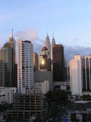 KL - Blick auf die Petronas-Twin´s