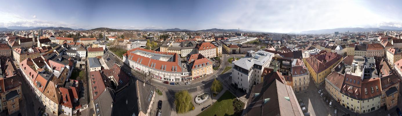 Klagenfurt-Sicht aus Stadtpfarrturm