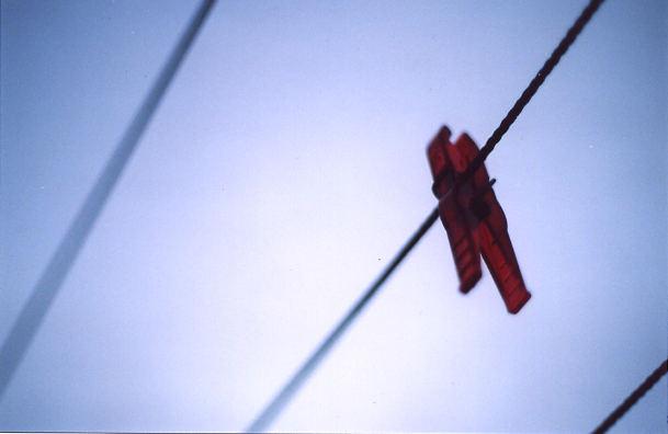 Klammer im Wind