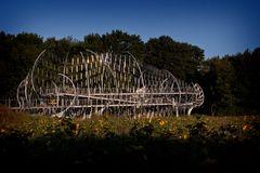 Klangbrücke - Edelstahl und Holz