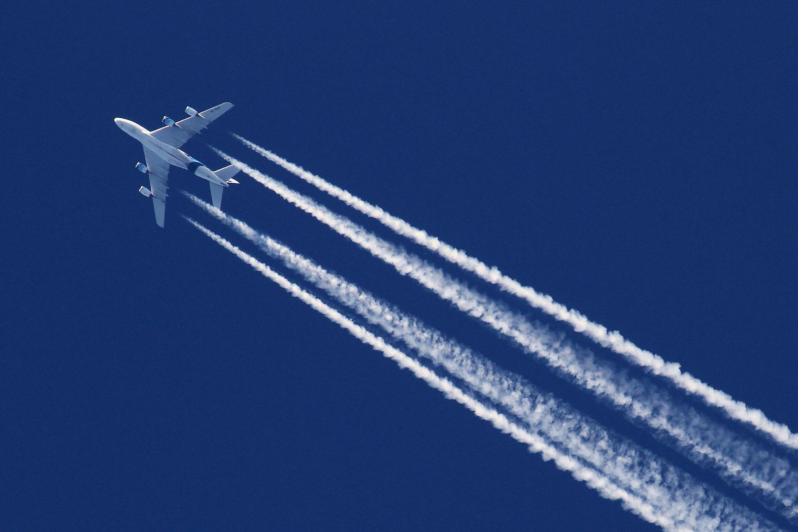 Klare Sicht: A380 in 12000 Meter Höhe