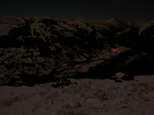 klare Vollmondnacht auf 1700m