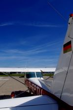 Klarer Himmel, kleine Cessna...gleich gehts los!