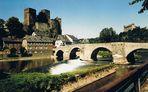 Klassische Ansicht der Stadt Runkel